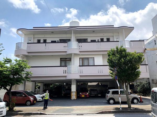 塗装後の沖縄県那覇市Nアパート様