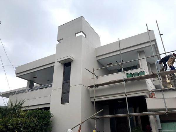 沖縄県那覇市O邸の足場解体。