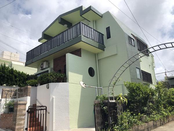 外壁塗装後の沖縄県那覇市M邸