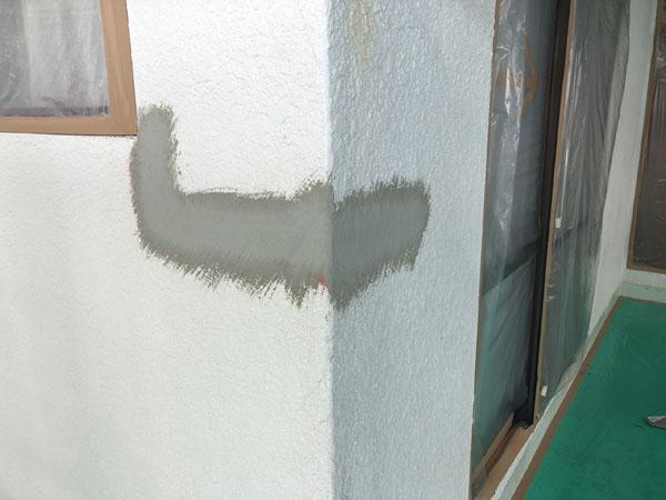 沖縄県那覇市M様のひび割れ左官補修仕上げ完了。