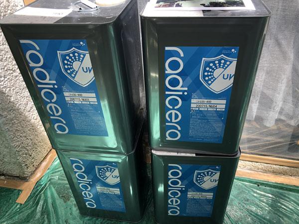 沖縄県那覇市M様の超低汚染性1液水性ラジカル形無機変性樹脂塗料。