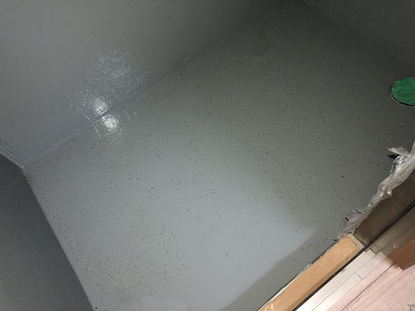 沖縄県那覇市Tアパート様のお風呂場防水工事後・漏水調査。