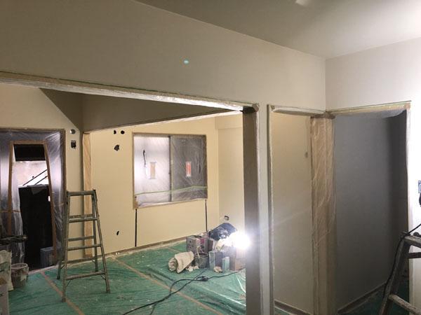 沖縄県那覇市Tアパート様のモデルルームの塗装仕上げ完了。