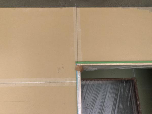 沖縄県那覇市Tアパート様のボート壁目地、カンデンサー貼り。