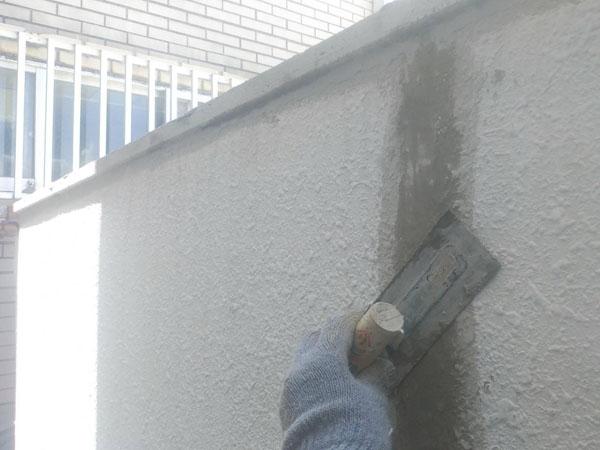 沖縄県那覇市Y様のひび割れ、コンクリート剥離部左官仕上げ。
