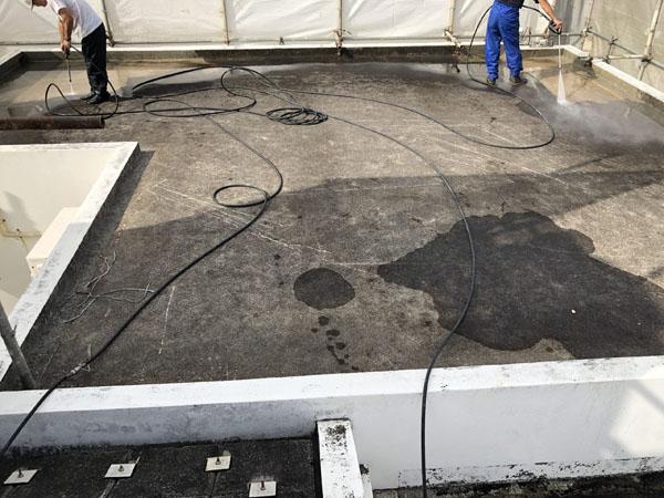沖縄県中城村T様の高圧水洗浄工事。