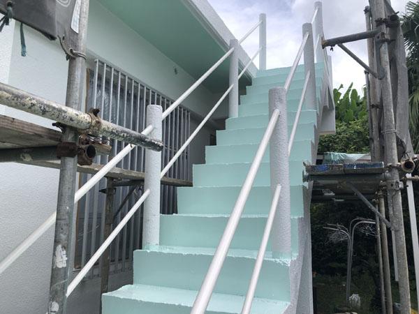 沖縄県南城市Y様の階段遮熱防水工事後