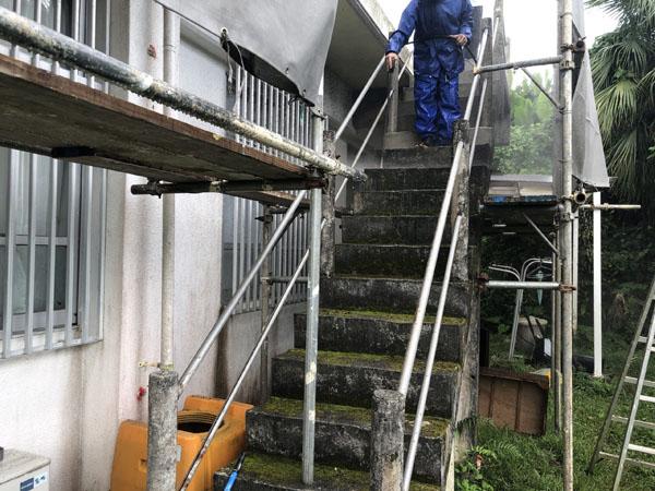 沖縄県南城市Y様の高圧水洗浄工事。