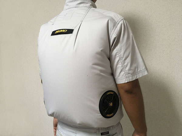 空調服・バートルのエアークラフト半袖ブルゾンAC7146ファンバッテリーセット