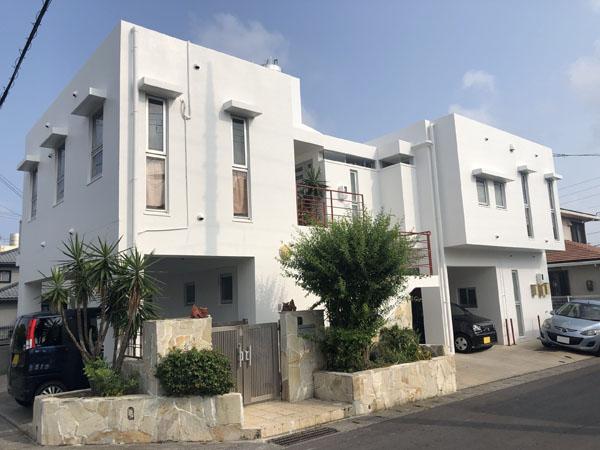 外壁塗装後の沖縄県中城村T邸