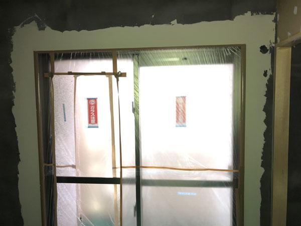 沖縄県那覇市T様のA棟2階の仕上げパテ完了。