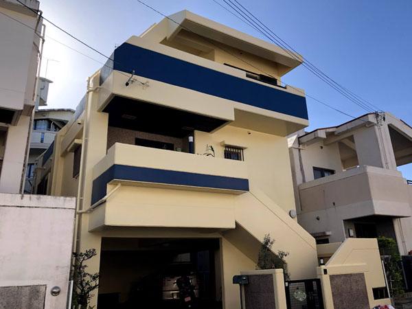 外壁塗装後の沖縄県那覇市O邸
