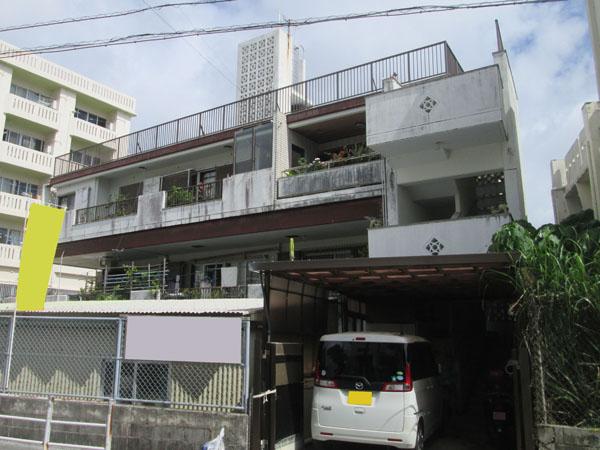 外壁塗装前の沖縄県那覇市S邸