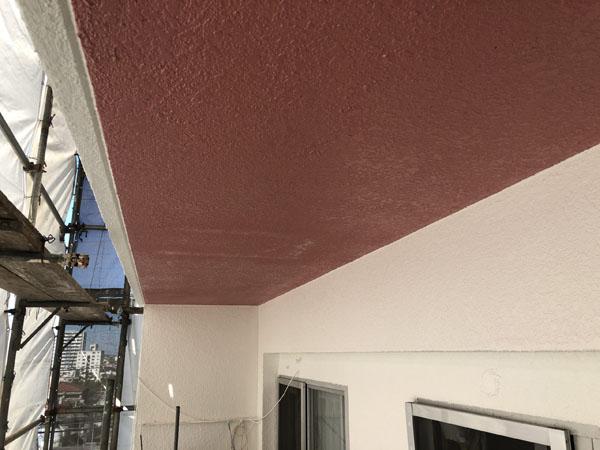 沖縄県浦添市Gアパート様のベランダ面の塗装工事完了