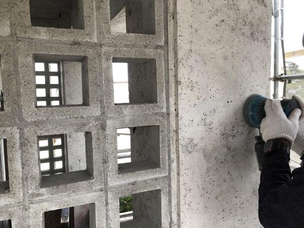 沖縄県浦添市S邸の屋上・外壁の研磨