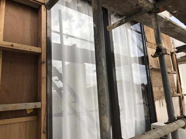 沖縄県八重瀬町S邸の外壁・サンディングボード張替え