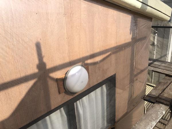 沖縄県八重瀬町N邸の外壁ベニヤ下張り