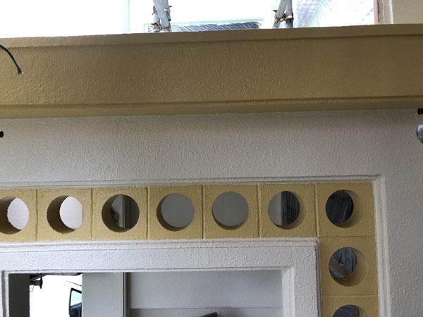八重瀬町N邸のポイント上塗り