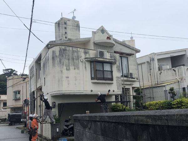 外壁塗装前の沖縄県八重瀬町N邸