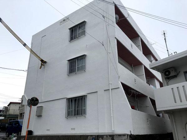 外壁塗装後の沖縄県浦添市Gアパート様