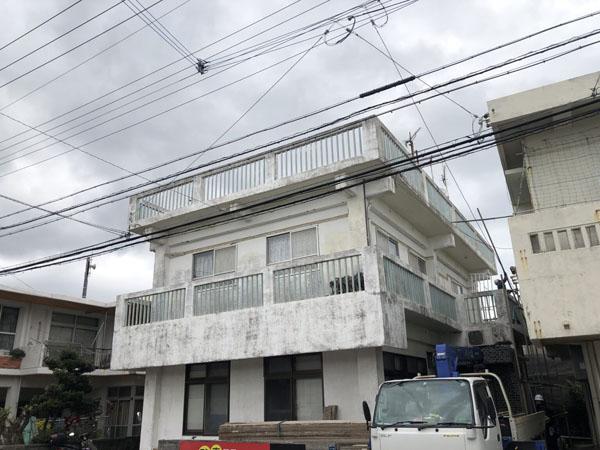 沖縄県宜野湾市S邸の足場組立工事