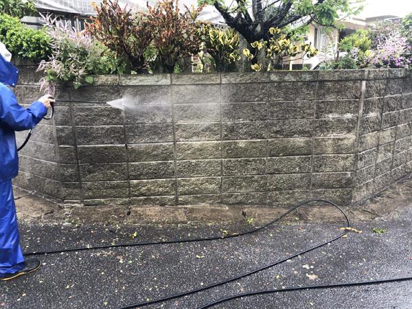 沖縄県那覇市G邸の高圧水洗浄工事