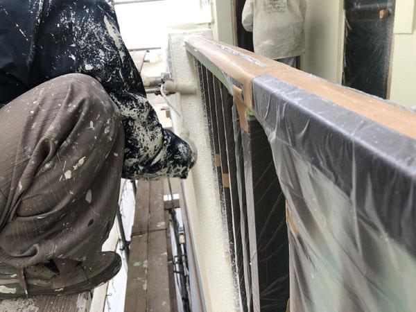 沖縄県那覇市K邸の塗装工程。