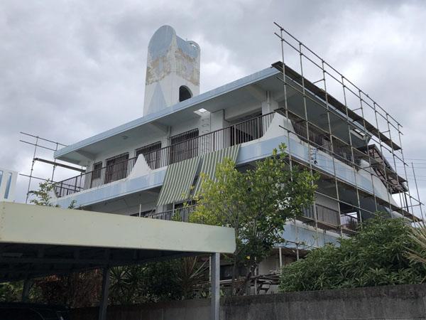 外壁塗装前の沖縄県那覇市K邸