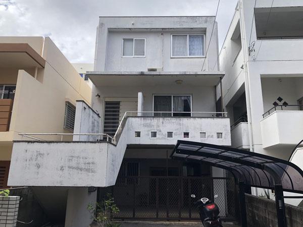 外壁塗装前の沖縄県浦添市H邸