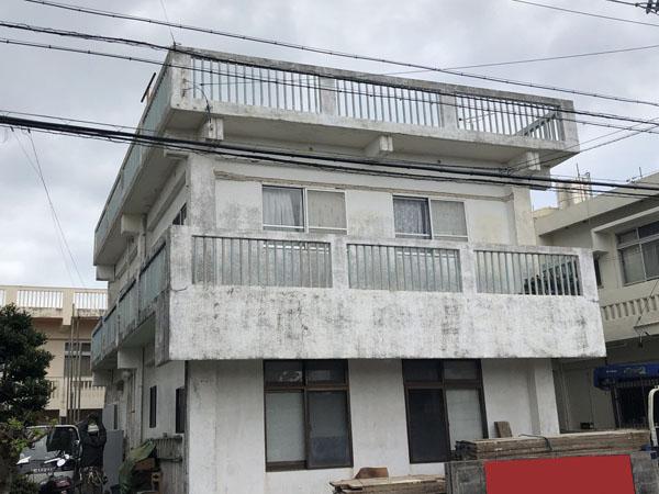 外壁塗装前の沖縄県宜野湾市S邸