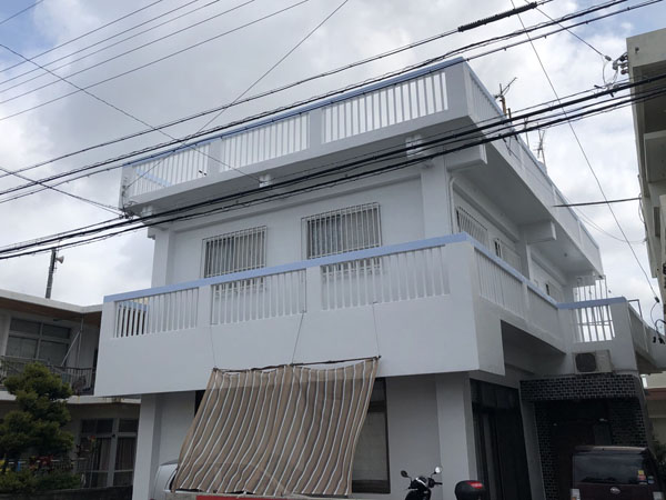 外壁塗装後の沖縄県宜野湾市S邸