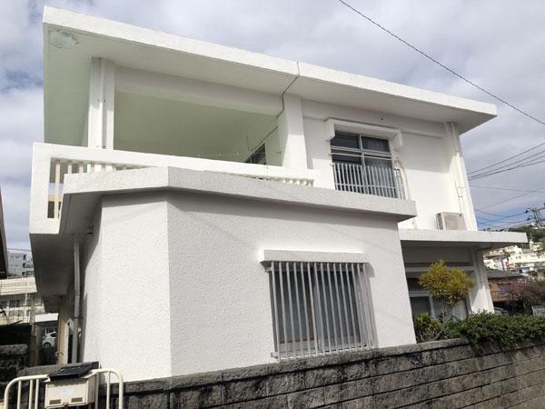 外壁塗装前の沖縄県那覇市G邸
