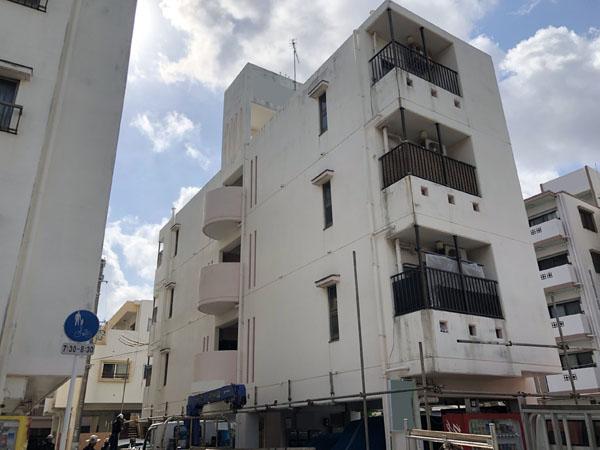 沖縄県那覇市Oアパート様の足場組立工事