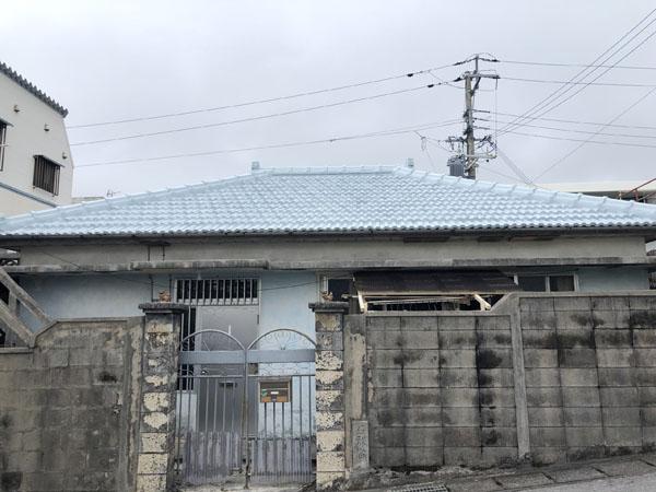 セメント瓦屋根防水塗装工事後の沖縄県那覇市S邸