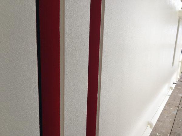 沖縄県那覇市Oアパート様のポイント色塗り完了。