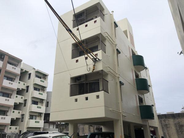 外壁塗装後の沖縄県那覇市Oアパート様
