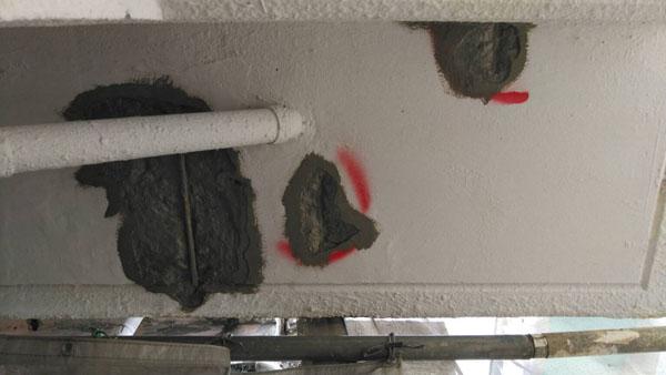 沖縄県那覇市T邸のコンクリート強化剤塗布。