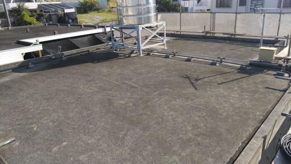 うるま市Sアパート様の屋上遮熱防水工事前