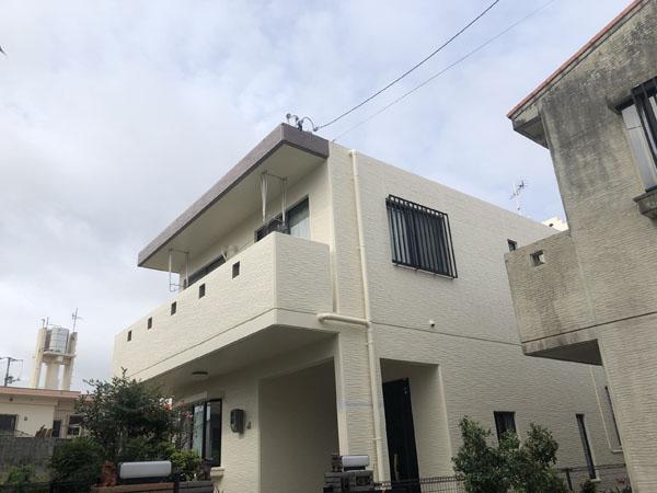 外壁塗装後の沖縄県宜野湾市M邸
