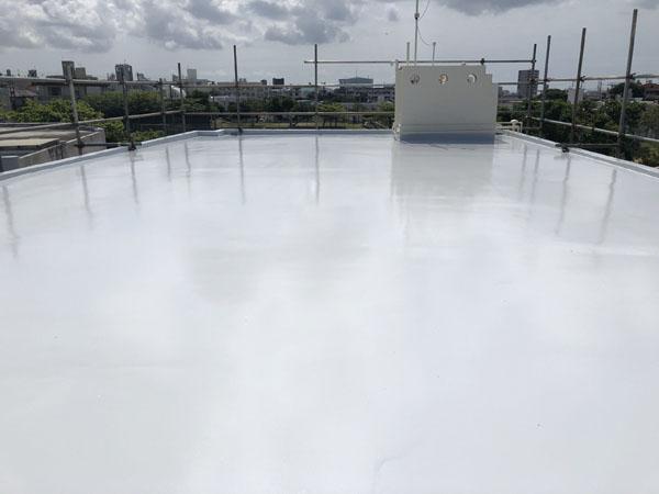 沖縄県宜野湾市M邸の屋上遮熱防水工事後