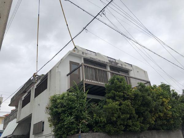 外壁塗装前の沖縄県那覇市T邸
