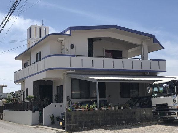 外壁塗装後の沖縄県豊見城市K邸