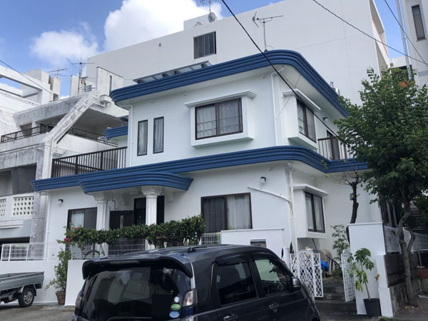 外壁塗装後の沖縄県那覇市E邸